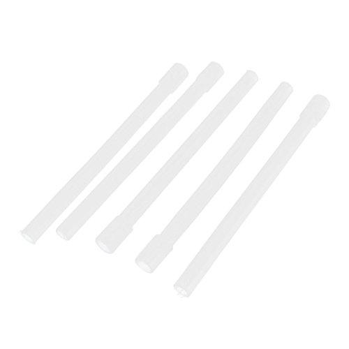 El dispensador de agua de 8 mm 5pcs flexible manguera de goma recto de tubería de 10 mm x