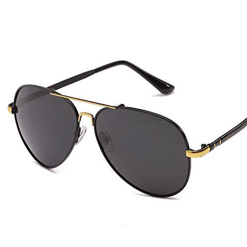 CFLFDC Sonnenbrillen Tag Und Nacht Dual-use-verfärbung Polarisierte Männer Sonnenbrille Outdoor-sportart Fahrbrille Brille Brille Schwarze Gold-Frame schwarz graue Scheiben