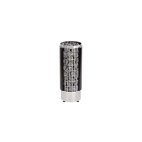 Harvia Cilindro Saunaofen - PC90HE 9,0 kW wird separates Steuergerät benötig, Farbe: Schwarz