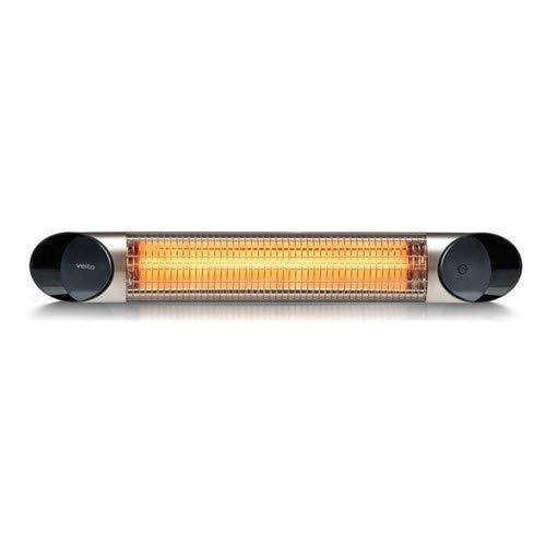 Veito Blade S Design Terrassenheizstrahler, infrarot Heizstrahler mit 2500 Watt, inkl. Fernbedienung, 4 Heizstufen, Infrarotheizstrahler mit Wasserschutzklasse IP55