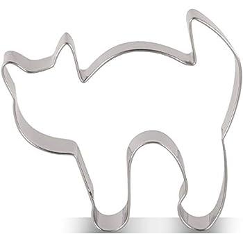 Ausstechform Katze 7 cm Ausstecher Halloween Edelstahl Städter