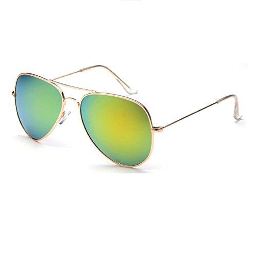 O-C - Gafas de sol - para mujer Gold frame Yellow sivler