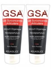 Aquasilice GSA Gel Surconcentré Articulaire Silicium Organique Lot de 2 x 200 ml