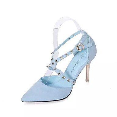 Moda donna sexy sandali di moda femminile nozze tacchi / Party & sera abito / Stiletto Heel fibbia nero / blu UE36-39 Blue