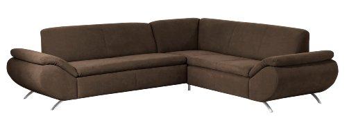 Max Winzer 28707012051701 Polsterecke Madita 2.5-Sitzer mit Ecksofa rechts, samtiges Flachgewebe, braun