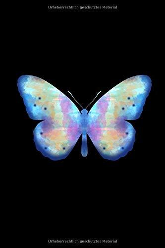 Notizbuch: Schmetterling A5 Notebook liniert I Falter Journal I Insekt Notizheft I Nachtfalter Tagfalter Aquarell Geschenk I Sommer Natur Tagebuch -