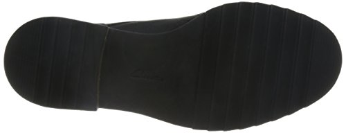 Clarks Balmer Bella, Oxfords Femme Noir (Black Leather)