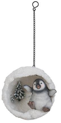 Hanging Playful Penguin Snowball