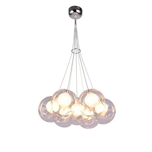 Lampadari Lampadario a sfera in vetro, LED, scala a chiocciola, ristorante, scala a più colori, arte creativa, soggiorno, villa, luce bolla A+ (colore : C-2)