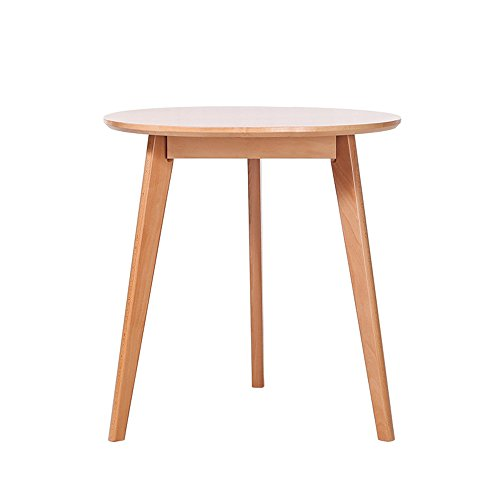 Couchtische CAICOLOUR Esstisch Telefon Tisch Einfach Lässig Kleine Runde Tisch-Holz Farbe, Nussbaum Farbe (Farbe : Holzfarbe, Größe : 50cm)