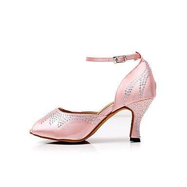 ... XIAMUO Women's Dance Schuhe Satin Latin/Salsa Sandalen Strass  angepasste Ferse Innen-/Leistung ...