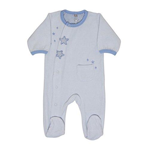 Hust & Claire - Baby Les Jeunes Joueurs Nicki-Grenouillère Combinaison bébé Mode Einteiler Playsuit étoiles en Bleu Clair - Bleu -