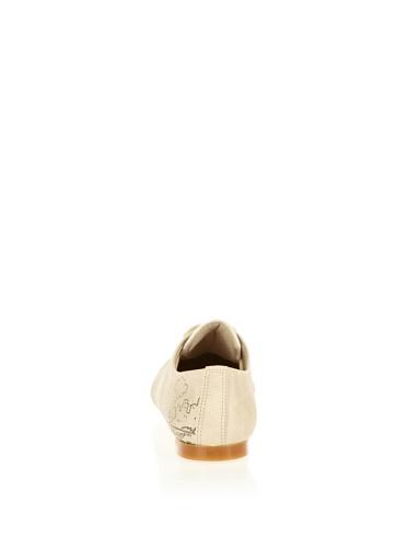 Cute Paws , Chaussures de ville à lacets pour femme beige ivoire Ivoire