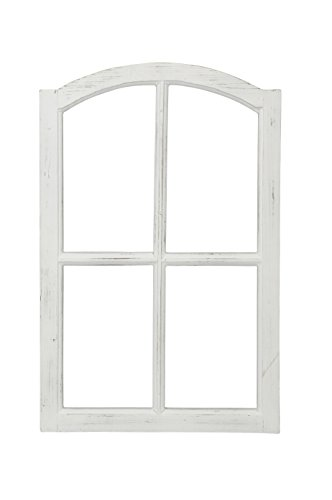 Deko-Fensterrahmen Holz- Rahmen Fenster-Attrappe Holz shabby weiß gewischt Vintage (Vintage Fenster)