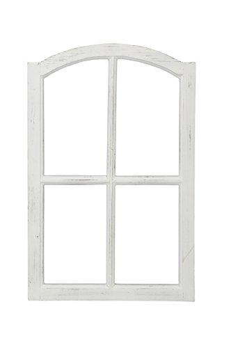 fensterrahmen deko fenster Posiwio Deko-Fensterrahmen Holz- Rahmen Fenster-Attrappe Holz Shabby weiß gewischt Vintage