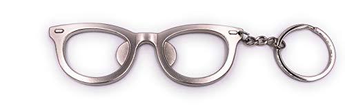 H-Customs Brille mit Flaschenöffner Schlüsselanhänger Anhänger aus Metall Silber (Flaschenöffner Custom Schlüsselanhänger Mit)