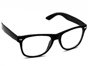 Oramics ® occhiali neri da sole Wayfarer retro della nullità chiaro e nero (chiaro)