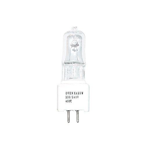 JCD Halogen Backofenlampe 25W GZ5,3 400° 230V klar Oven HA SIL -