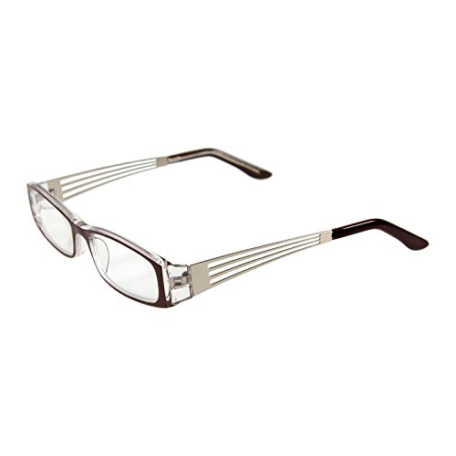 I NEED YOU Lesebrille Lea/+1.00 Dioptrien/Braun-Silber, 1er Pack