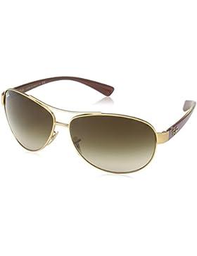 Ray-Ban Flieger Wrap Sonnenbrille im Matt-Gold-Violett RB3386 112/13 63