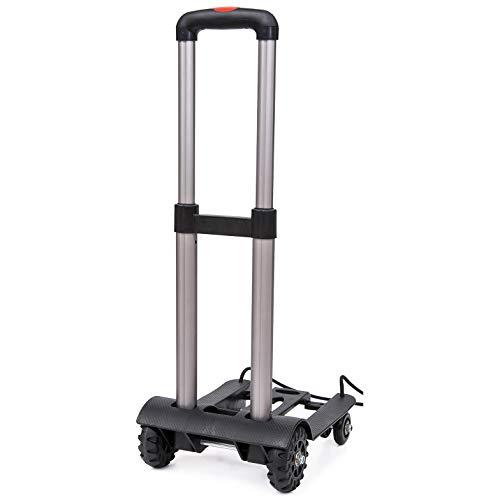 HJJH 4-Rad-Falten-Gepäck-Wagen-Tragbarer Einkaufslaufkatzen-Faltender Hand-LKW Für Wäscherei, Lebensmittelgeschäft, Einkaufen Und Sport-Fälle - Lkw Lebensmittelgeschäft
