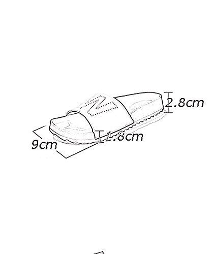CHAOXIANG Pantofole Piatte Flip Flop EVA Toe Post Sandali Da Surf Nuovo Calzature Da Spiaggia Estiva ( Colore : Bianca , dimensioni : EU36/UK4-4.5/CN37 ) Nero