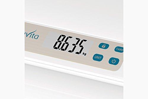 Nuvita 1310 - Elektronische DIGITALE BABYWAAGE PRIMI PESI mit Leuchtanzeige – Kinderwaage – Doppelte Wiegefunkion - Waage für Neugeborene&Babys – Säuglingswaage - Tara Funktion - Italienisches Design