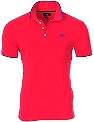 La Martina Polo Poloshirt Un sólo Color Rosado M