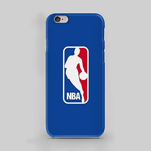 WorldSell Flexible Silikon Schutzhülle Ultra-Slim Gel TPU Bumper Cover Durchsichtige Rückschale Weiche Silikon Ultradünne Handyhülle für Apple iPhone 6-6s, Sport 055 NBA