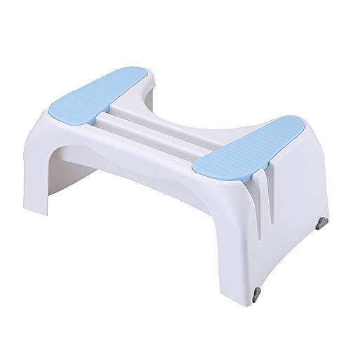 DEI QI Taburete de baño de plástico Engrosamiento Pedal Adulto Pedal del Paso Taburete del Taburete Heces en Cuclillas Hogar Infantil Pedestal Taburete (Color : Azul)