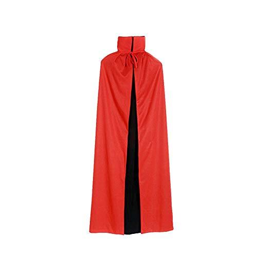 Schwarz Cape Und Kostüm Rot Reversible - TrifyCore Schwarz und Rot Reversible Halloween Umhang Cosplay Maskerade-Partei Cape Kostüm für Halloween Themed Party 140 cm 1PC