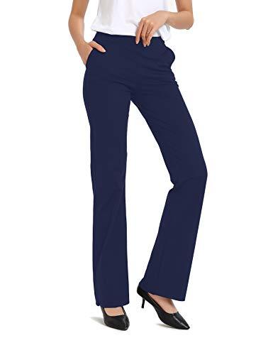 Safort Regular/Tall Bootcut Yoga Hose mit 71cm/76cm/81cm/86cm Schrittlänge, 4 Hosentaschen,Lange Bootleg-Hose, Flare-Hose - Besten Yoga-hose