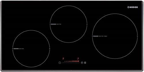 SEHR EXKLUSIVES Kochfeld 70cm Autark/Induktions-Kochfeld Nur 35 cm Tiefe/3 Kochzonen/mit Boosterfunktion/Induktionskochfeld/Slider Touch Control Steuerung/Timer mit Ankochautomatik/ 9 Heizstufen/Facettenschliff vorne/SPANISCHE EDEL MARKE NODOR/ UVP795EUR