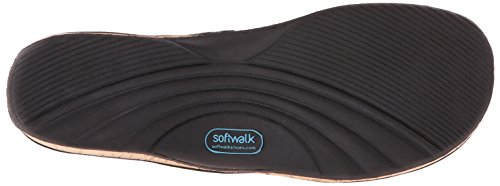 Softwalk BEAUMONT LASER Large Cuir Tongs Black