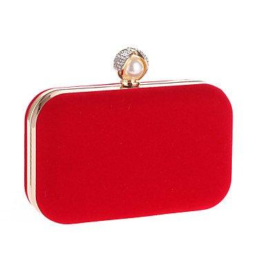 pwne L. In West Wome Der Eleganten Pearl Samtstoff Abend Tasche Ruby