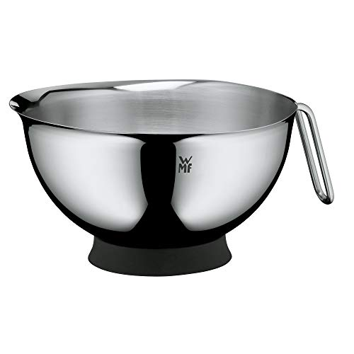 WMF Function Bowls Rührschüssel, mit Griff Ø 20 cm, Cromargan Edelstahl poliert, spülmaschinengeeignet, stapelbar, V 1,25 l