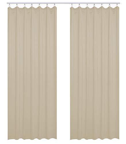 Woltu tende opache con occhielli tenda drappeggio oscurante per finestra termica isolante 2 pannelli