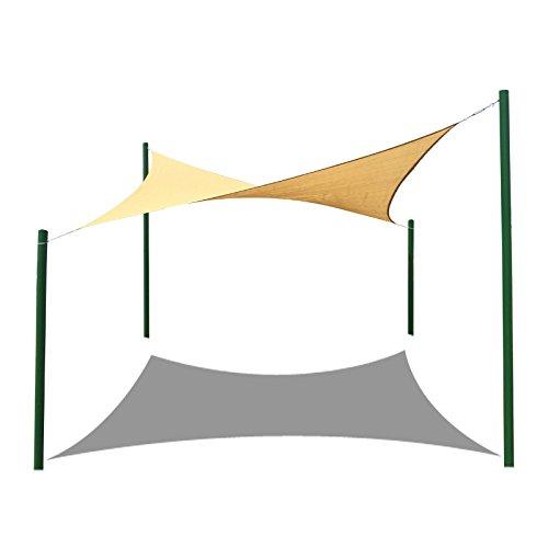 Frilivin Sonnensegel Rechteckig Sonnenschutz Garten UV Schutz Premium Schatten Tuch Markisen Beige (1x2m)