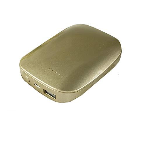 KLI 2 IN1 Wieder Aufladbare Handwärmer-Energie-Bank-Tragbare Wiederverwendbare 7800Mah USB-Energie-Bank Elektrische Quickheat-Taschen-Handwärmer USB-Ladegerät Für iPhone Samsung-Galaxie Android,Gold