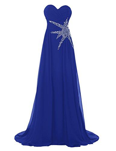 Bbonlinedress Robe de cérémonie Robe de demoiselle d'honneur bustier en cœur longueur ras du sol Bleu Saphir