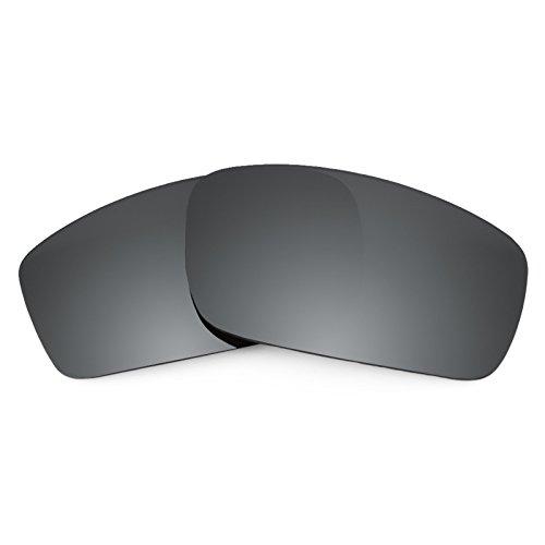 Revant Ersatzlinsen für Oakley Square Wire New (2006) Polarisierung Schwarz Chrom MirrorShield® Square Glas