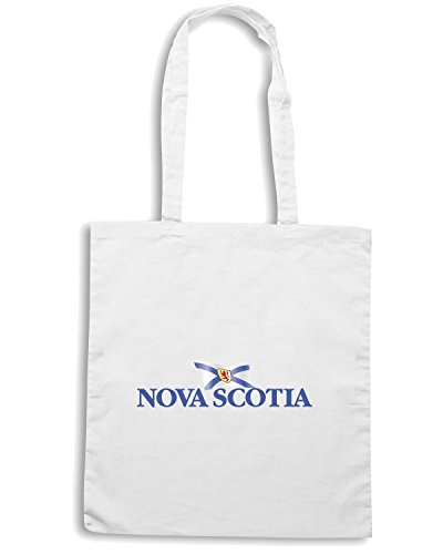 T-Shirtshock - Borsa Shopping TM0216 novascotia withflag flag Bianco