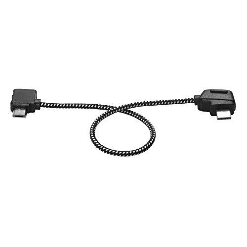 Favrison 8,15 Zoll Android-Tablet-Micro-USB-Kabel für DJI Mavic Pro-Fernbedienung, Nylon-Datenkabel für Datenkabel Verbindungskabel-Anschluss für Android-Tablet für DJI Mavic Pro / Air RC-Drohne
