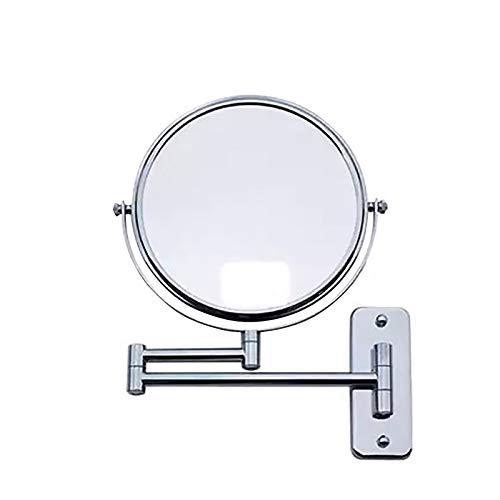Homiki Wall Mounted Maquillaje Espejo Plegable de Doble Cara de 6 Pulgadas Espejo Giratorio Extensible...