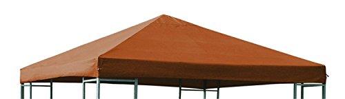 Ersatzdach für Metall und Alu Pavillon Dach Pavillondach 3 x 3 Meter Wasserdicht viele Farben, Farbe:orange