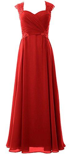 MACloth -  Vestito  - linea ad a - Senza maniche  - Donna Red 46