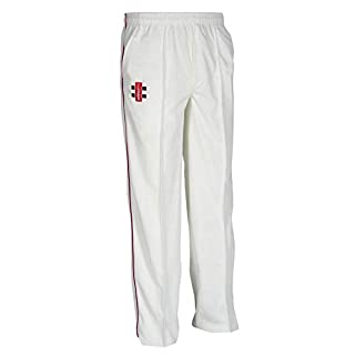 Personalised Custom Your Text Design Logo Gray-Nicolls atrix Trousers - Ivory/Maroon M GN010