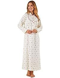 cb8450393e Slenderella Brushed Cotton Full Length Floral Nightdress