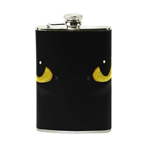FGRYGF Cat Eyes In Dark Night Stainless Steel Flachmann,Pocket Flagon,Camping Wine Pot,Gift for Men or Women