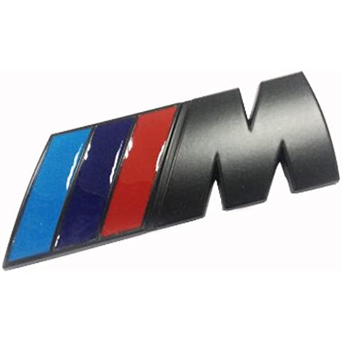 Dian bin- M Color Banderas Rejilla Metálica de color negro sujeción vehicle-badge Logo Emblema para BMW